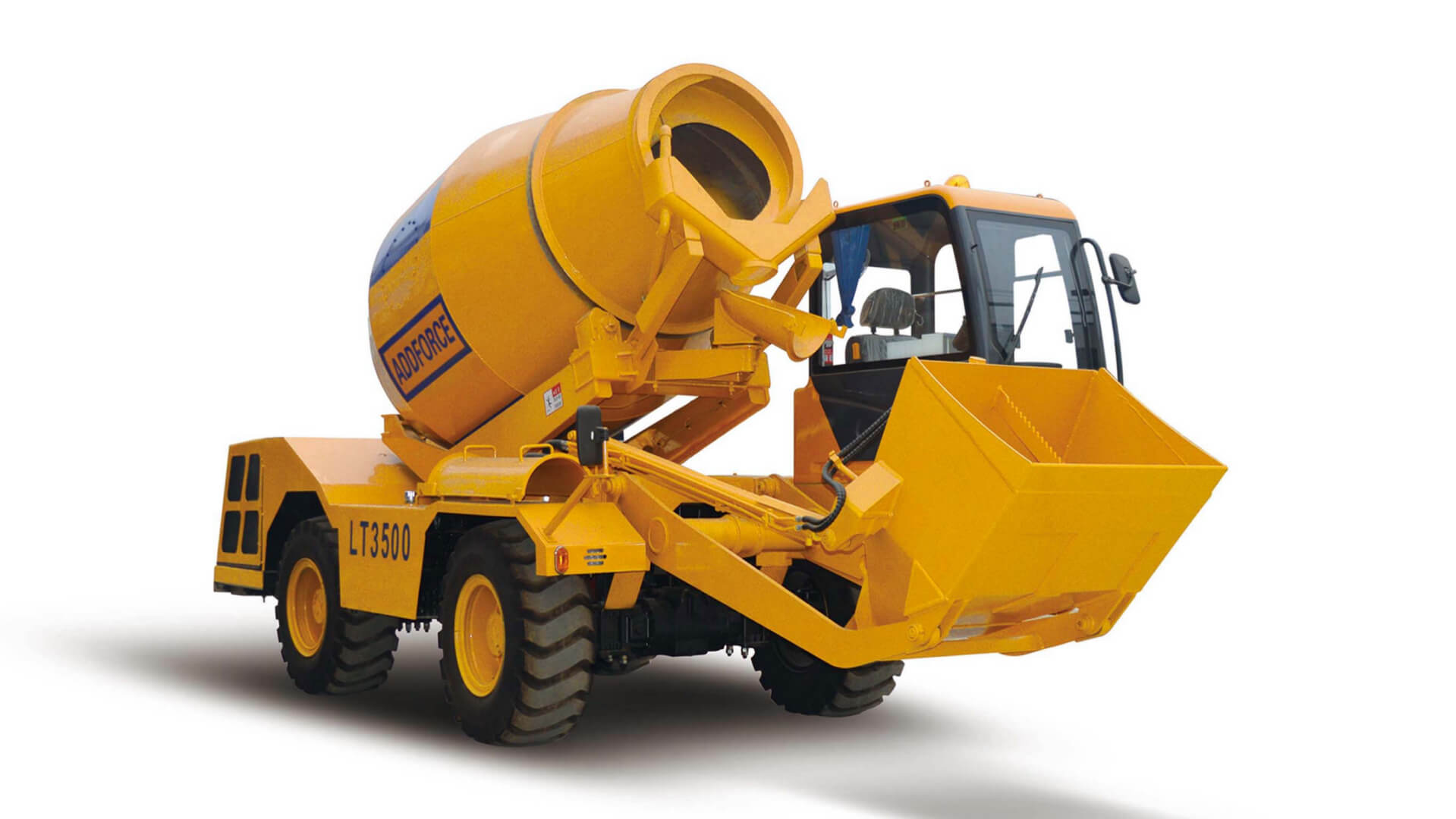 Front Load Mixer ~ Self loading concrete mixer no in china addforce